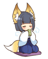 Miko sister of fox sticker #1133828