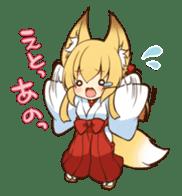 Miko sister of fox sticker #1133832