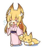 Miko sister of fox sticker #1133842