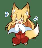 Miko sister of fox sticker #1133846