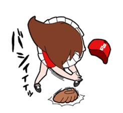 Baseball girl sticker #1133924