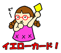 Red glasses daughter sticker #1134844
