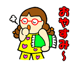 Red glasses daughter sticker #1134848