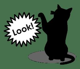 Black cat silhouette sticker #1134969