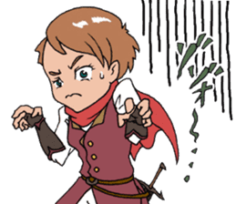 The Adventure of courage and power sticker #1137287