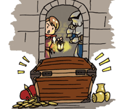 The Adventure of courage and power sticker #1137298