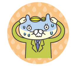 cat  businessman sticker #1140627