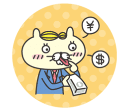cat  businessman sticker #1140631