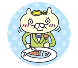 cat  businessman sticker #1140643