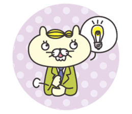 cat  businessman sticker #1140646