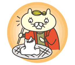 cat  businessman sticker #1140655