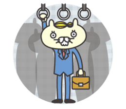 cat  businessman sticker #1140662