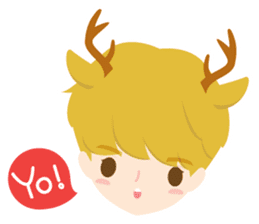 Deer Boy & friends sticker #1140826