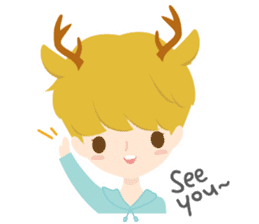 Deer Boy & friends sticker #1140827