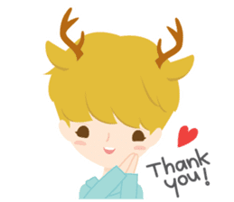 Deer Boy & friends sticker #1140828