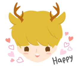 Deer Boy & friends sticker #1140830
