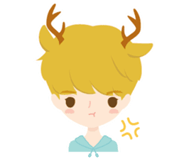 Deer Boy & friends sticker #1140831