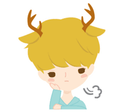 Deer Boy & friends sticker #1140832