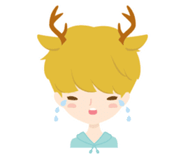 Deer Boy & friends sticker #1140833
