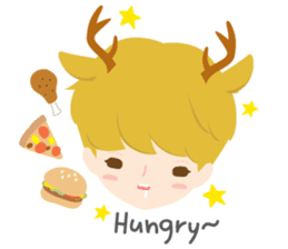 Deer Boy & friends sticker #1140834