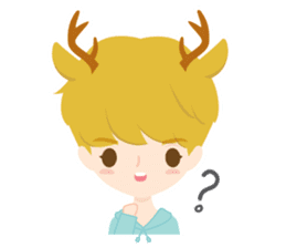 Deer Boy & friends sticker #1140835