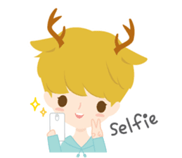 Deer Boy & friends sticker #1140837