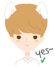 Deer Boy & friends sticker #1140839
