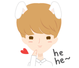 Deer Boy & friends sticker #1140843