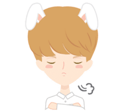 Deer Boy & friends sticker #1140845