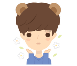 Deer Boy & friends sticker #1140855