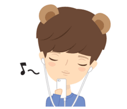 Deer Boy & friends sticker #1140856