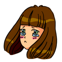 YUMI chan with tears sticker #1141466