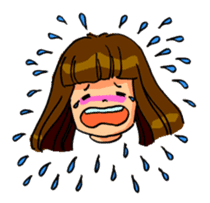 YUMI chan with tears sticker #1141468