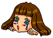 YUMI chan with tears sticker #1141469