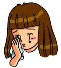 YUMI chan with tears sticker #1141473