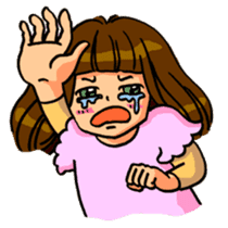 YUMI chan with tears sticker #1141474