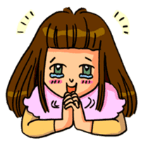 YUMI chan with tears sticker #1141479