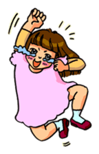 YUMI chan with tears sticker #1141480