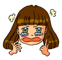 YUMI chan with tears sticker #1141487