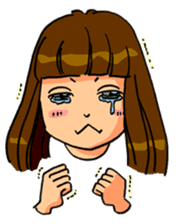 YUMI chan with tears sticker #1141489