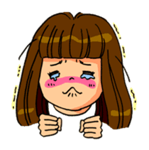 YUMI chan with tears sticker #1141497