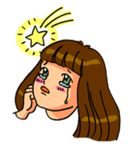 YUMI chan with tears sticker #1141500