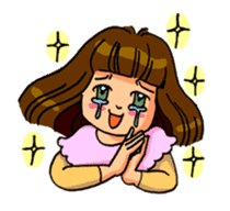 YUMI chan with tears sticker #1141502