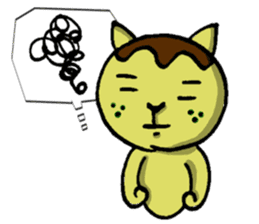 Octopus Dumpling Cat's usual day sticker #1142432