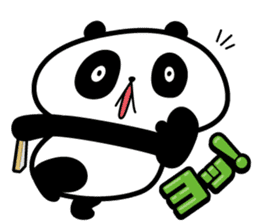 Positive panda sticker #1142837