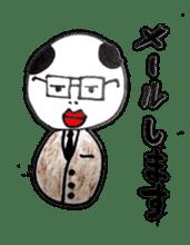 a office worker kokeshi doll sticker #1143367