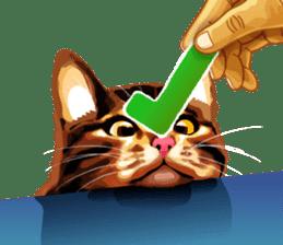 Meme The Cat sticker #1144927