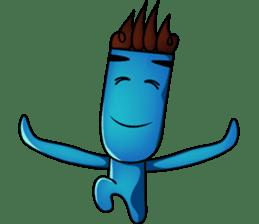 Blue Giggle sticker #1145388