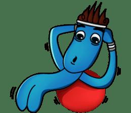 Blue Giggle sticker #1145397