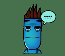 Blue Giggle sticker #1145402